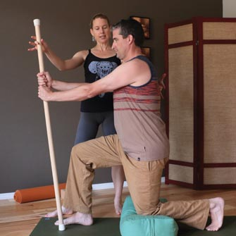 Sean increases strength, flexibility and balance during a Hatha Yoga class at Yoga Mojo & Movement Therapy in Vancouver, Washington