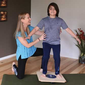 Miles learns how fun a yoga class can be at Yoga Mojo & Movement Therapy in Vancouver, Washington serving the following zip codes: 98607, 98660, 98661, 98662, 98663, 98664, 98665, 98666, 98668, 98682, 98683, 98684, 98687, 98642, 98671, 98604, 98606, 98616, 98629, 98674, 98675
