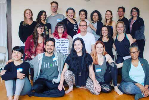 The Accessible Yoga Teacher Training class at Yoga NW in Portland, Oregon